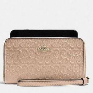 Coach 57469 - Debossed Phone Wallet Wristlet